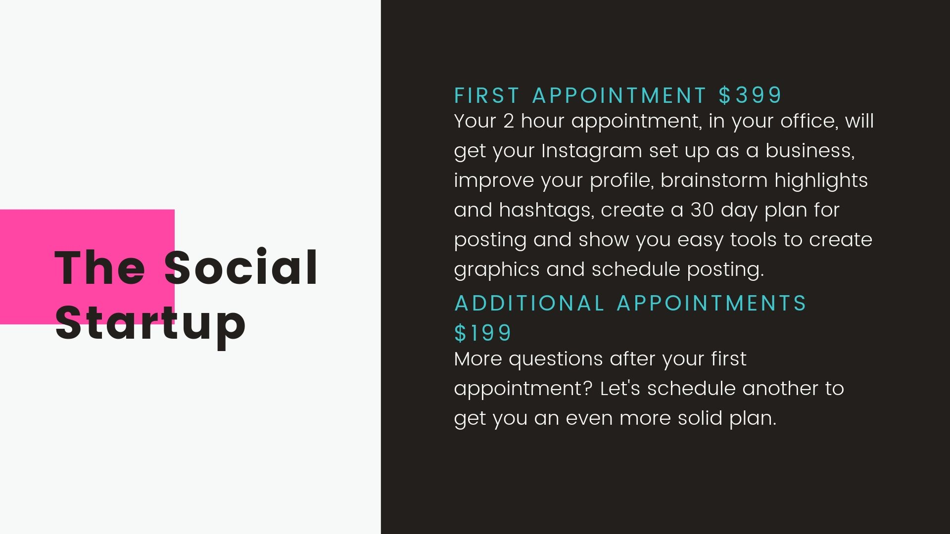 Creative Content PDX-The Social Service Pricing
